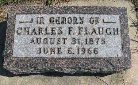 FLAUGH, CHARLES F. - Cedar County, Nebraska | CHARLES F. FLAUGH - Nebraska Gravestone Photos