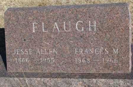 FLAUGH, JESSE ALLEN - Cedar County, Nebraska   JESSE ALLEN FLAUGH - Nebraska Gravestone Photos