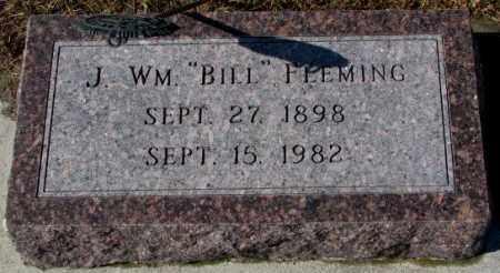 "FLEMING, J. WM. ""BILL"" - Cedar County, Nebraska | J. WM. ""BILL"" FLEMING - Nebraska Gravestone Photos"