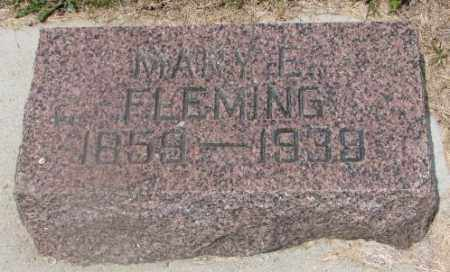FLEMING, MARY E. - Cedar County, Nebraska | MARY E. FLEMING - Nebraska Gravestone Photos