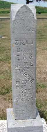 FLEMING, ZULA J. - Cedar County, Nebraska | ZULA J. FLEMING - Nebraska Gravestone Photos