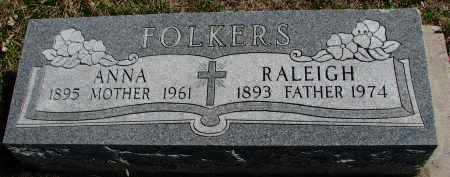 FOLKERS, RALEIGH - Cedar County, Nebraska | RALEIGH FOLKERS - Nebraska Gravestone Photos