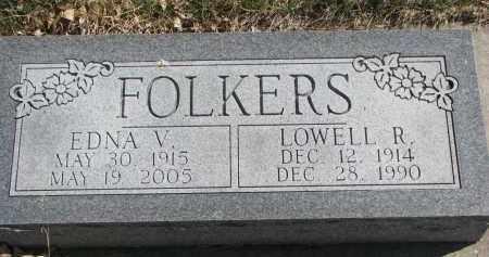 FOLKERS, EDNA V. - Cedar County, Nebraska | EDNA V. FOLKERS - Nebraska Gravestone Photos