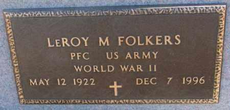 FOLKERS, LEROY M. (WW II) - Cedar County, Nebraska | LEROY M. (WW II) FOLKERS - Nebraska Gravestone Photos