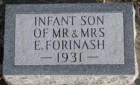 FORINASH, INFANT SON 1931 - Cedar County, Nebraska | INFANT SON 1931 FORINASH - Nebraska Gravestone Photos