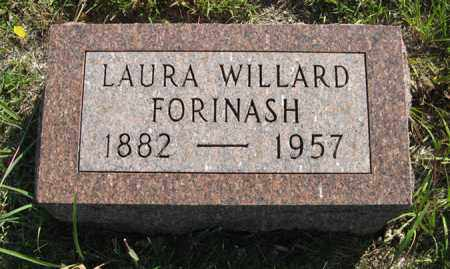 WILLARD FORINASH, LAURA - Cedar County, Nebraska | LAURA WILLARD FORINASH - Nebraska Gravestone Photos