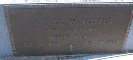 FOSTER, GEORGE W. (WW I) - Cedar County, Nebraska   GEORGE W. (WW I) FOSTER - Nebraska Gravestone Photos
