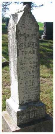 FOULK, GEORGE - Cedar County, Nebraska | GEORGE FOULK - Nebraska Gravestone Photos