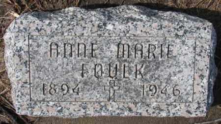 FOULK, ANNE MARIE - Cedar County, Nebraska   ANNE MARIE FOULK - Nebraska Gravestone Photos