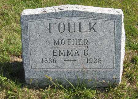 FOULK, EMMA C. - Cedar County, Nebraska | EMMA C. FOULK - Nebraska Gravestone Photos