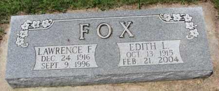 FOX, EDITH L. - Cedar County, Nebraska | EDITH L. FOX - Nebraska Gravestone Photos