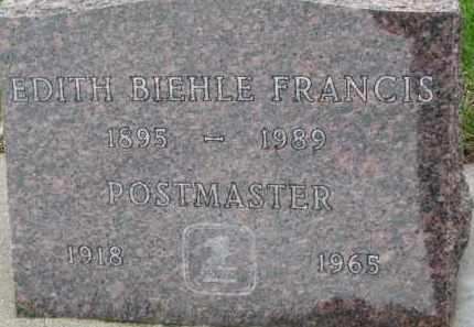 FRANCIS, EDITH - Cedar County, Nebraska   EDITH FRANCIS - Nebraska Gravestone Photos