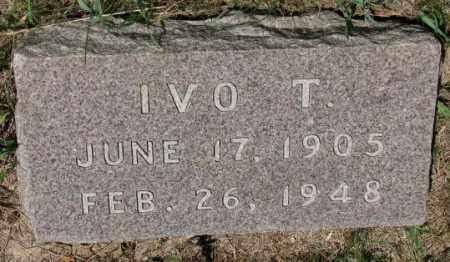 FREDERICK, IVO T. - Cedar County, Nebraska | IVO T. FREDERICK - Nebraska Gravestone Photos