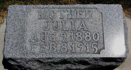 FREDERICK, JULIA - Cedar County, Nebraska | JULIA FREDERICK - Nebraska Gravestone Photos