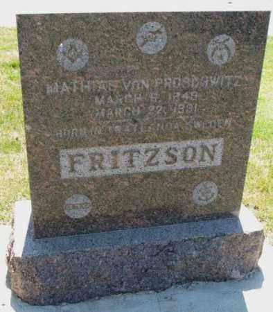 FRITZSON, MATHIAS VON PROSCHWITZ - Cedar County, Nebraska | MATHIAS VON PROSCHWITZ FRITZSON - Nebraska Gravestone Photos