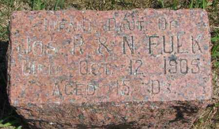 FULK, INFANT DAUGHTER - Cedar County, Nebraska | INFANT DAUGHTER FULK - Nebraska Gravestone Photos