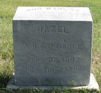 GABLE, HAZEL - Cedar County, Nebraska   HAZEL GABLE - Nebraska Gravestone Photos