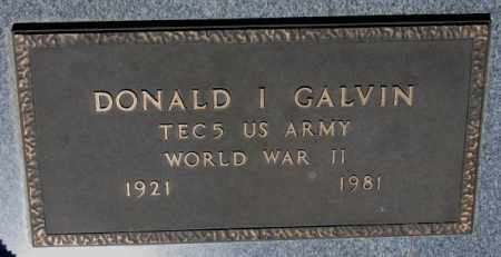 GALVIN, DONALD I.  (WW II) - Cedar County, Nebraska | DONALD I.  (WW II) GALVIN - Nebraska Gravestone Photos