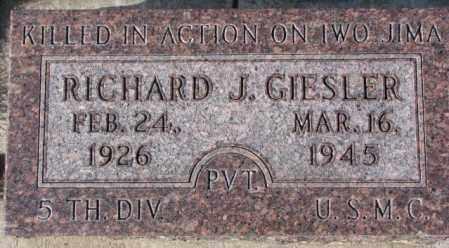 GIESLER, RICHARD J. - Cedar County, Nebraska | RICHARD J. GIESLER - Nebraska Gravestone Photos