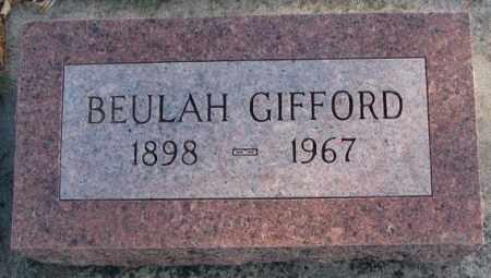 GIFFORD, BEULAH - Cedar County, Nebraska | BEULAH GIFFORD - Nebraska Gravestone Photos