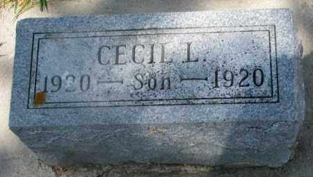 GIFFORD, CECIL L. - Cedar County, Nebraska | CECIL L. GIFFORD - Nebraska Gravestone Photos
