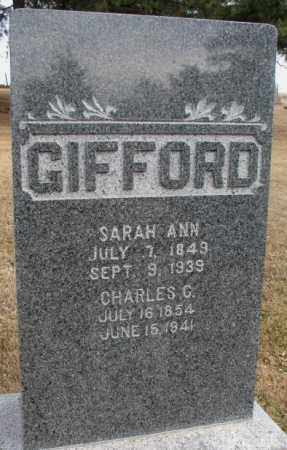 GIFFORD, SARAH ANN - Cedar County, Nebraska | SARAH ANN GIFFORD - Nebraska Gravestone Photos