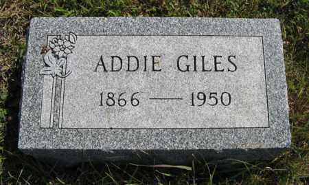 GILES, ADDIE - Cedar County, Nebraska | ADDIE GILES - Nebraska Gravestone Photos