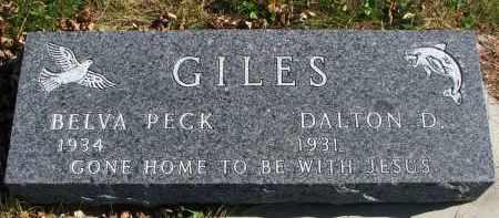 GILES, BELVA - Cedar County, Nebraska | BELVA GILES - Nebraska Gravestone Photos