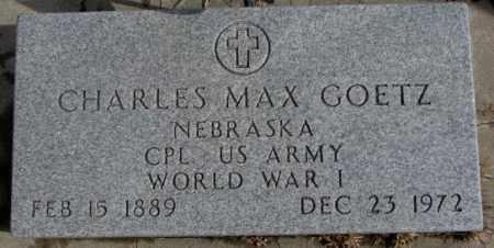 GOETZ, CHARLES MAX (WW I) - Cedar County, Nebraska | CHARLES MAX (WW I) GOETZ - Nebraska Gravestone Photos