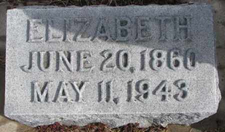GOETZ, ELIZABETH - Cedar County, Nebraska   ELIZABETH GOETZ - Nebraska Gravestone Photos