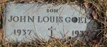 GOETZ, JOHN LOUIS - Cedar County, Nebraska | JOHN LOUIS GOETZ - Nebraska Gravestone Photos