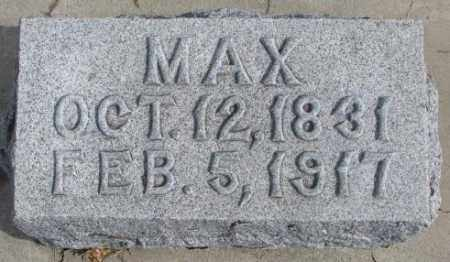 GOETZ, MAX - Cedar County, Nebraska | MAX GOETZ - Nebraska Gravestone Photos
