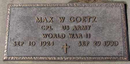 GOETZ, MAX W. (WW II) - Cedar County, Nebraska | MAX W. (WW II) GOETZ - Nebraska Gravestone Photos