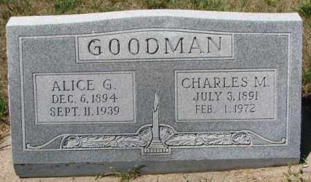 GOODMAN, ALICE G. - Cedar County, Nebraska | ALICE G. GOODMAN - Nebraska Gravestone Photos