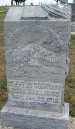 GOODMAN, CLAYTON - Cedar County, Nebraska | CLAYTON GOODMAN - Nebraska Gravestone Photos