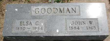 GOODMAN, ELSA C. - Cedar County, Nebraska | ELSA C. GOODMAN - Nebraska Gravestone Photos