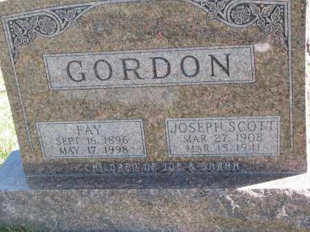 GORDON, FAY - Cedar County, Nebraska | FAY GORDON - Nebraska Gravestone Photos