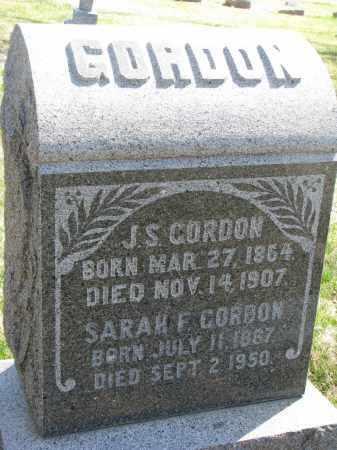 GORDON, SARAH F. - Cedar County, Nebraska | SARAH F. GORDON - Nebraska Gravestone Photos