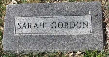 GORDON, SARAH - Cedar County, Nebraska   SARAH GORDON - Nebraska Gravestone Photos