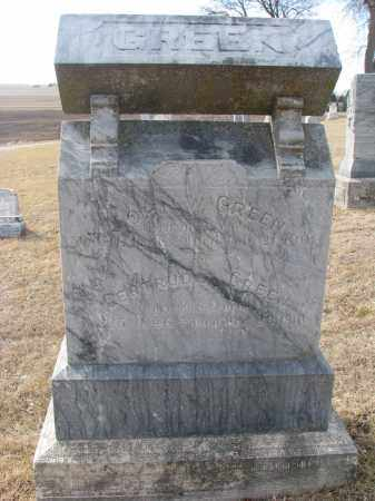 GREEN, JOHN W. - Cedar County, Nebraska | JOHN W. GREEN - Nebraska Gravestone Photos