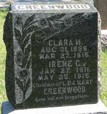 GREENWOOD, IRENE C. - Cedar County, Nebraska | IRENE C. GREENWOOD - Nebraska Gravestone Photos