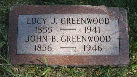 GREENWOOD, JOHN B. - Cedar County, Nebraska   JOHN B. GREENWOOD - Nebraska Gravestone Photos
