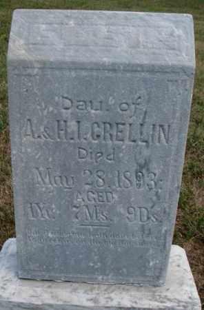 GRELLIN, ELSIE - Cedar County, Nebraska   ELSIE GRELLIN - Nebraska Gravestone Photos