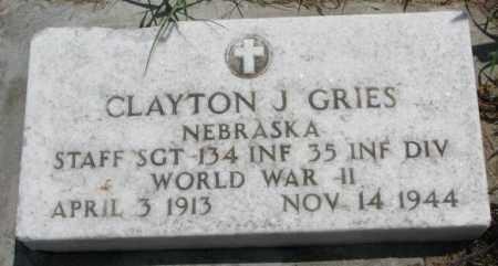 GRIES, CLAYTON J. (WW II) - Cedar County, Nebraska | CLAYTON J. (WW II) GRIES - Nebraska Gravestone Photos