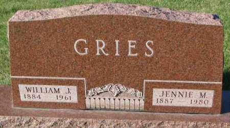 GRIES, JENNIE M. - Cedar County, Nebraska | JENNIE M. GRIES - Nebraska Gravestone Photos