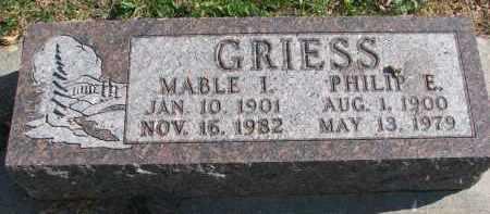 GRIESS, MABLE I. - Cedar County, Nebraska   MABLE I. GRIESS - Nebraska Gravestone Photos