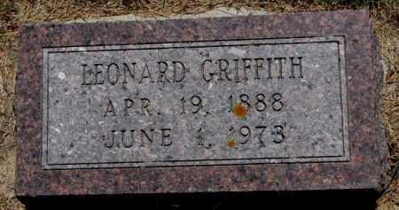 GRIFFITH, LEONARD - Cedar County, Nebraska | LEONARD GRIFFITH - Nebraska Gravestone Photos