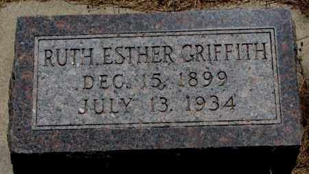 GRIFFITH, RUTH ESTHER - Cedar County, Nebraska | RUTH ESTHER GRIFFITH - Nebraska Gravestone Photos