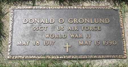 GRONLUND, DONALD O. (WW II) - Cedar County, Nebraska | DONALD O. (WW II) GRONLUND - Nebraska Gravestone Photos