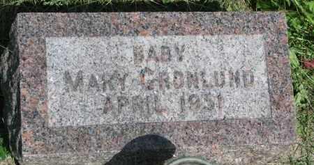 GRONLUND, MARY - Cedar County, Nebraska | MARY GRONLUND - Nebraska Gravestone Photos